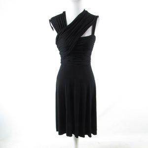 Anthropologie black sleeveless A-line dress M
